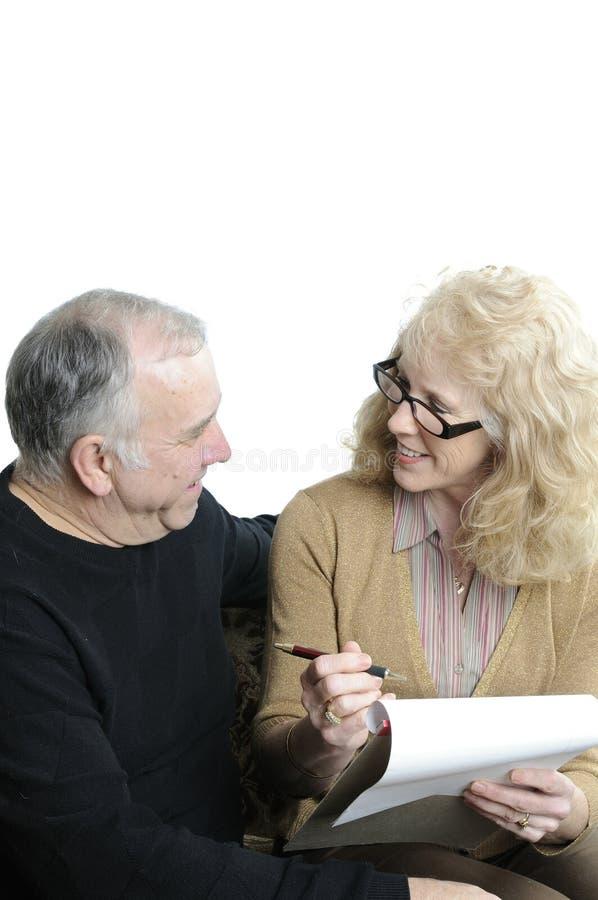 Des couples plus anciens images libres de droits