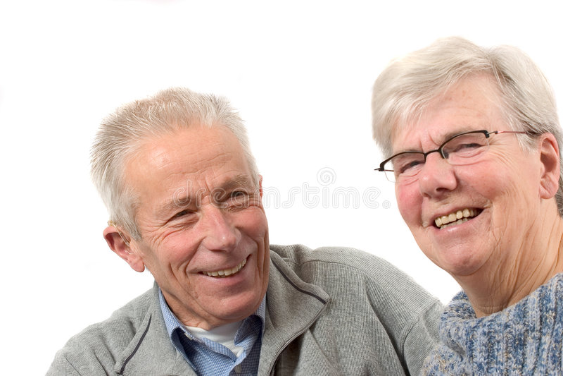 Des couples plus anciens ayant l'amusement photo libre de droits