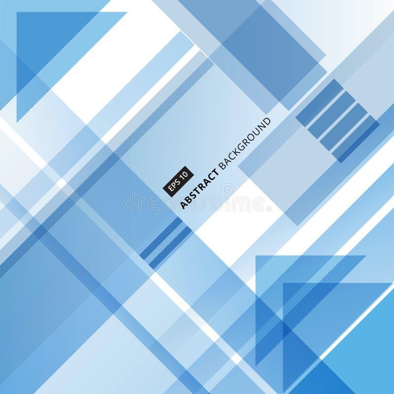DES d'entreprise abstrait de forme géométrique bleue et blanche de technologie illustration libre de droits