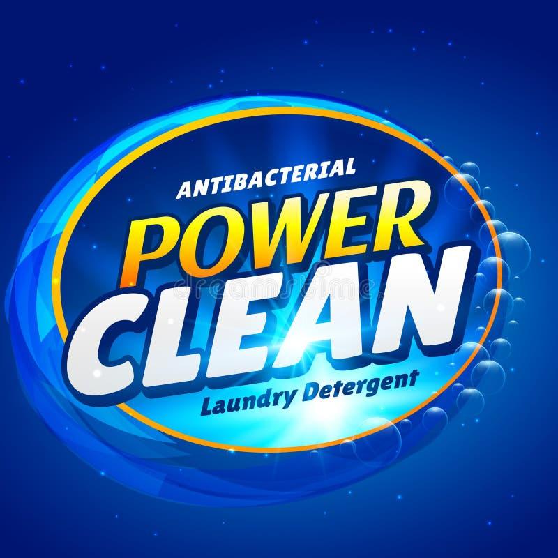 DES de empaquetado de la plantilla del jabón y del producto detergente launry del limpiador stock de ilustración