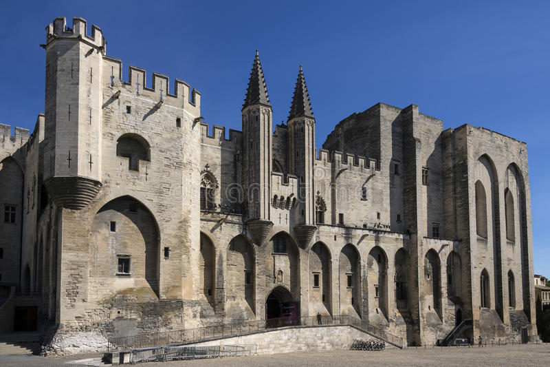 DES de Palais Papes - Avignon - Frances image stock