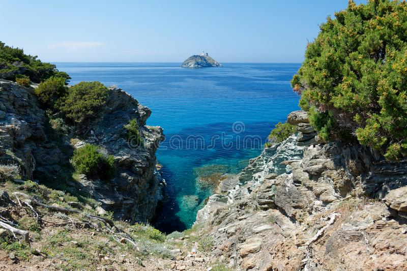 DES Douaniers, Corsica 04 di Sentier immagine stock