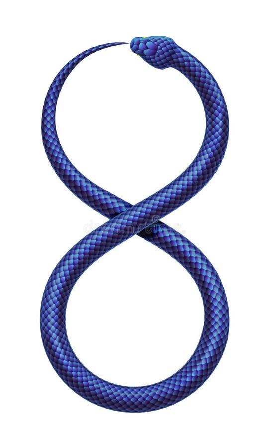 Des eates de serpent de vecteur c'est propre queue sous forme de signe d'infini illustration de vecteur