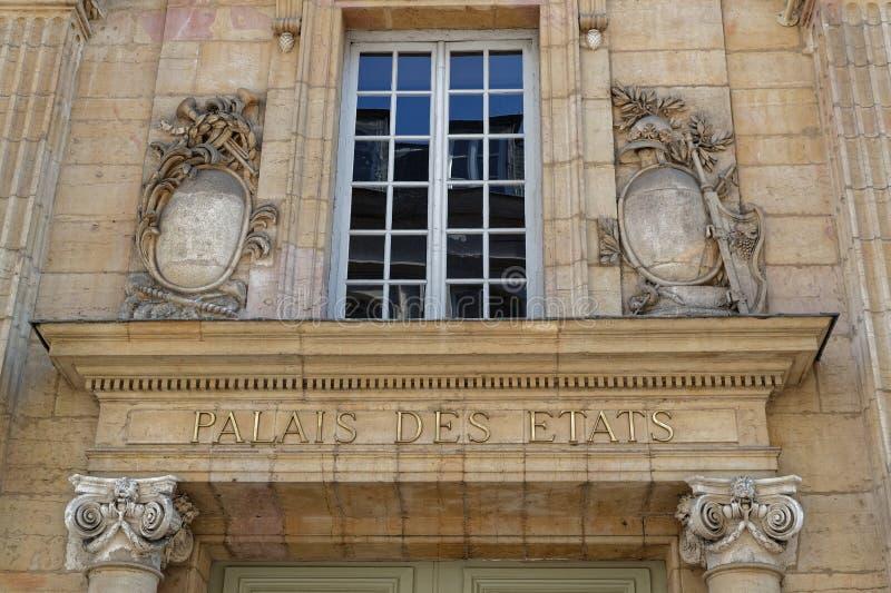 DES Etats de Palais à Dijon image stock