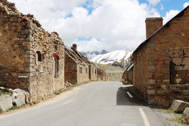 Des Fourches лагеря, воинские руины, морские Альпы, Франция стоковое фото rf