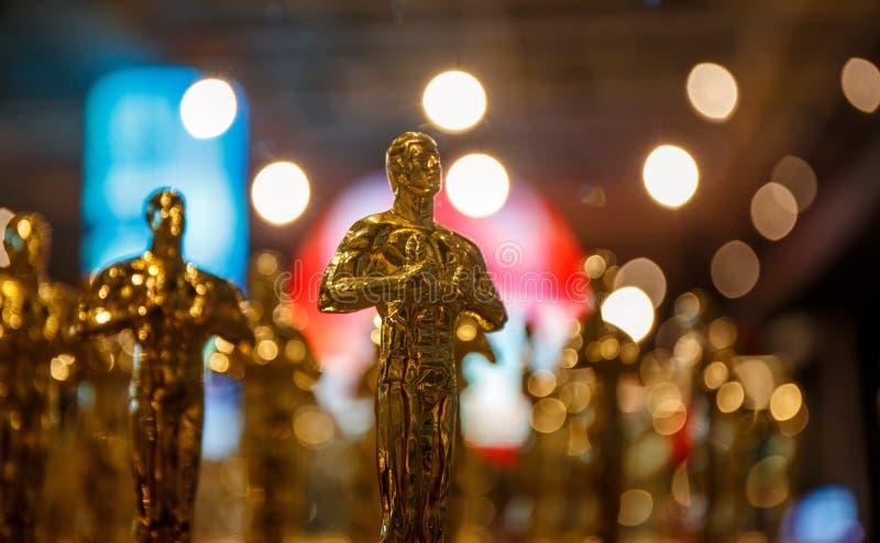 Des gagnants d'oscar ont été annoncés ! image libre de droits