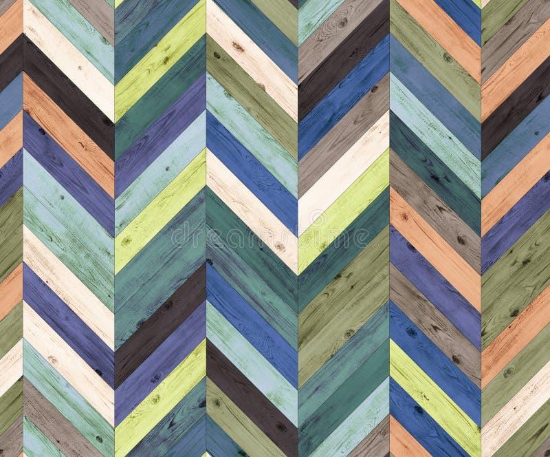 Des gelegentlichen nahtlose Bodenbeschaffenheit Farbnatürlichen Parketts Chevrons lizenzfreie stockfotos