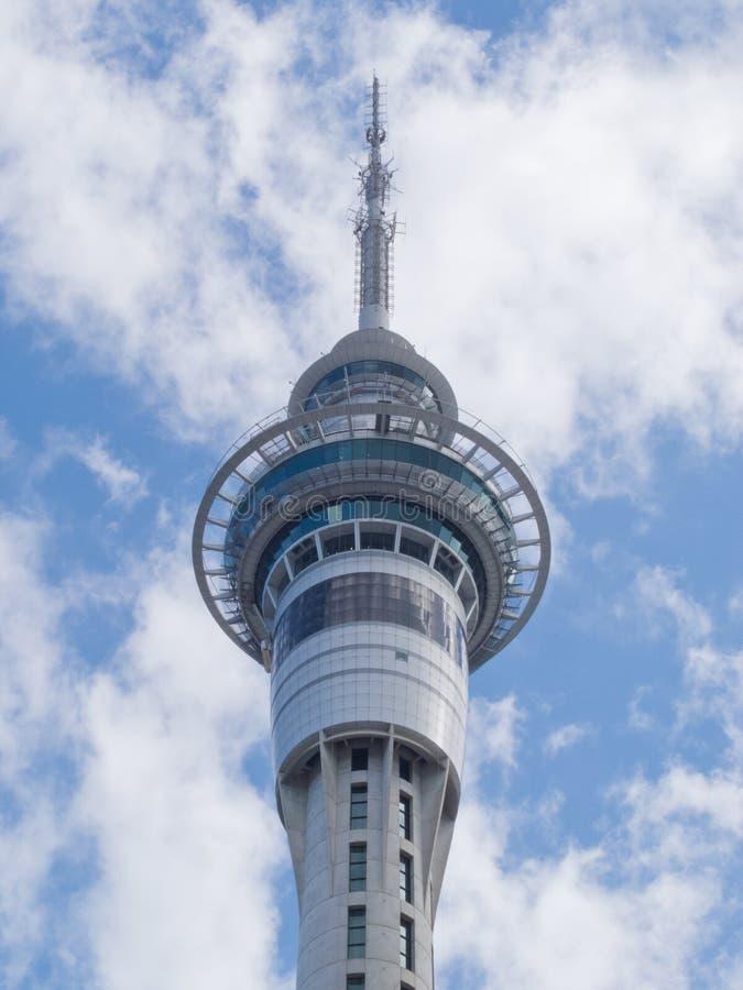 Des Himmel-Turms Neuseelands Auckland höchstes Gebäude lizenzfreie stockfotografie