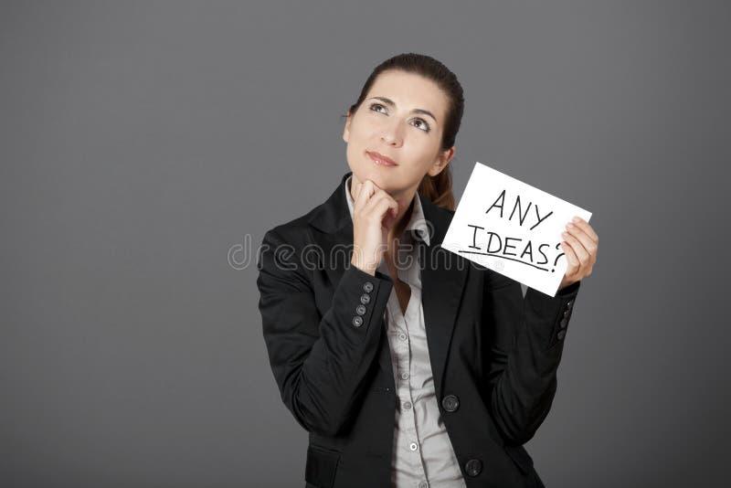 Des idées ? ? ? photographie stock