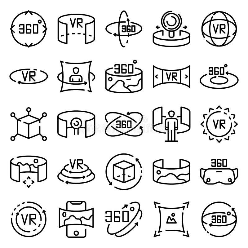 360 des Ikonengrad Satzes, Entwurfsart lizenzfreie abbildung