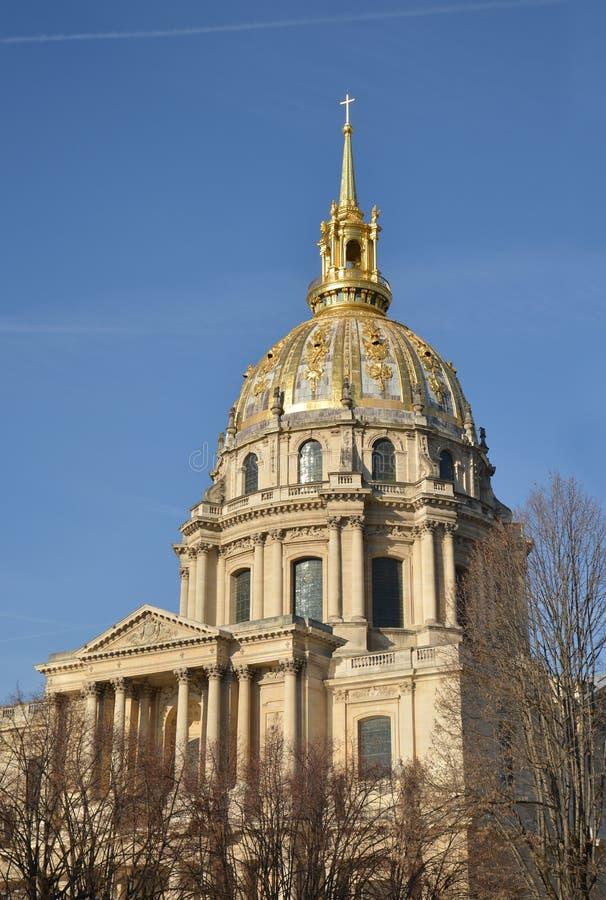 Des Invalides купола в Париже, Франции стоковое фото