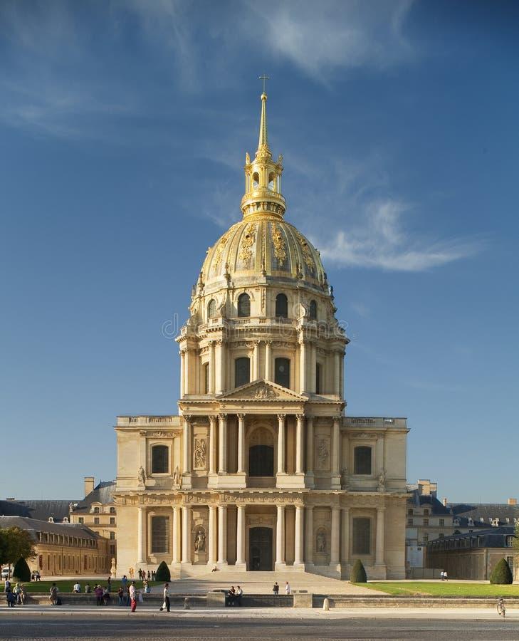 DES Invalides di Parigi, St. Louis della chiesa immagini stock libere da diritti