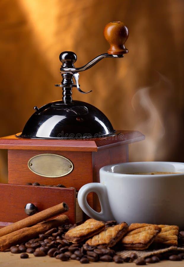Des Kaffees Leben noch stockfoto