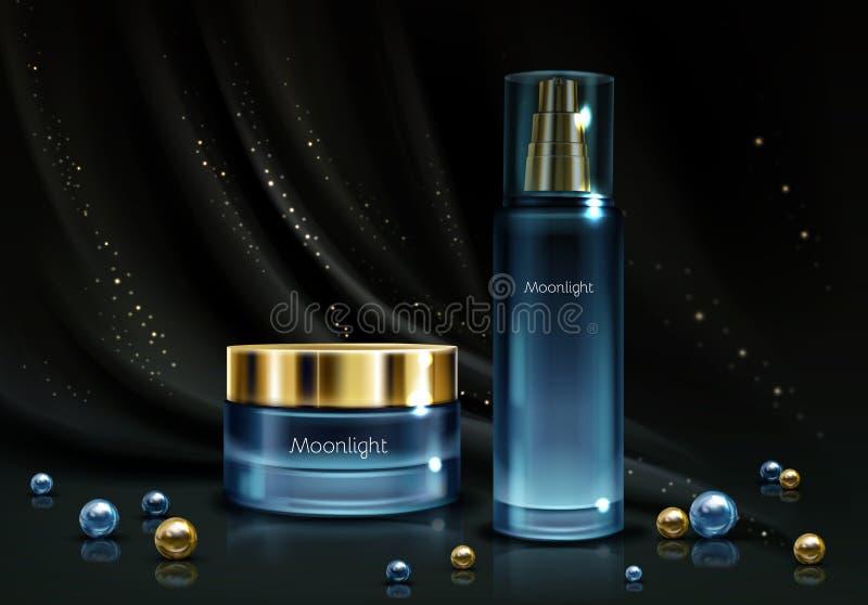 Des Kosmetikproduktes der Frauen realistisches Vektormodell lizenzfreie abbildung