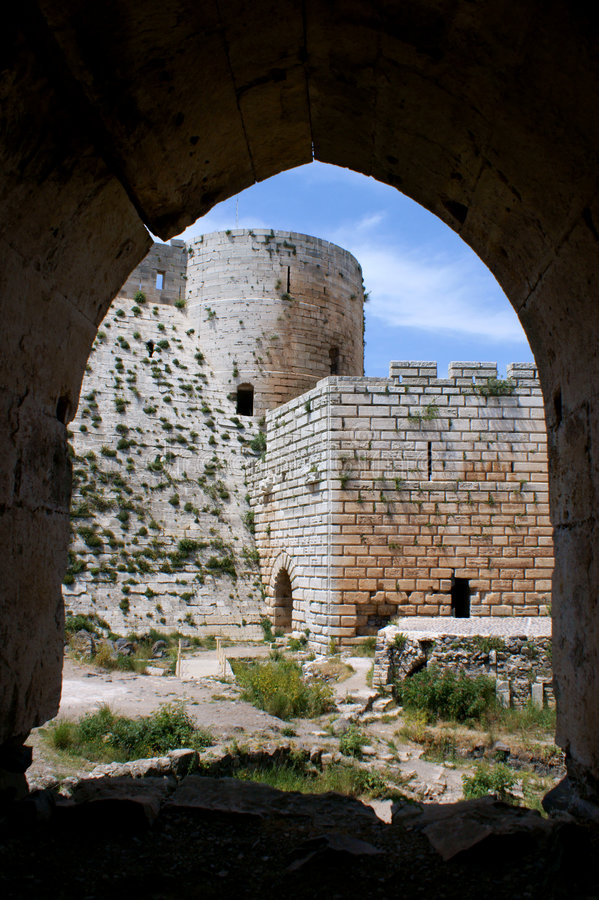 des krzyżowów chevaliers twierdzy krak Syria zdjęcie stock