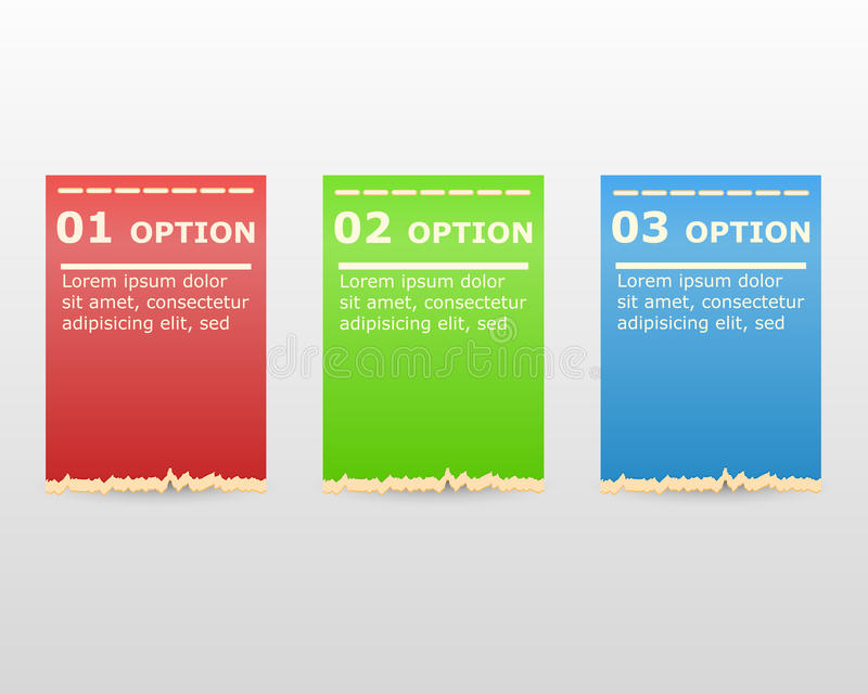 Des labels de conception moderne peuvent être employés pour le graphique ou le site Web de bannières numéroté par infographics illustration stock