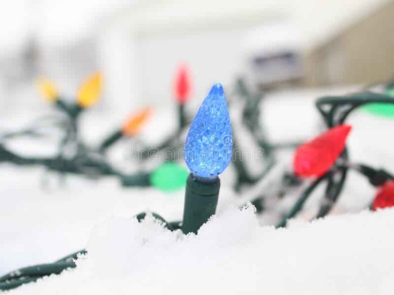 Des lumières de Noël jamais enchevêtrées image stock