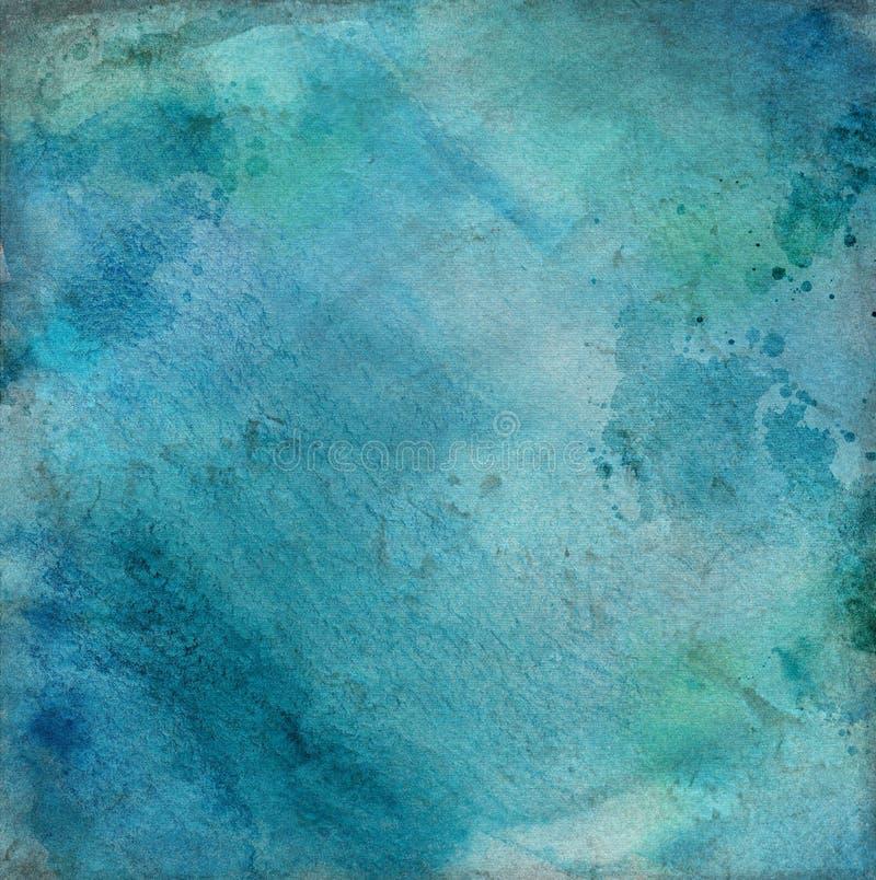 Des Marineblaus des abstrakten Schmutzes dekorative dunkle Stuckwand Kunstbeschaffenheits-Quadrathintergrund vektor abbildung