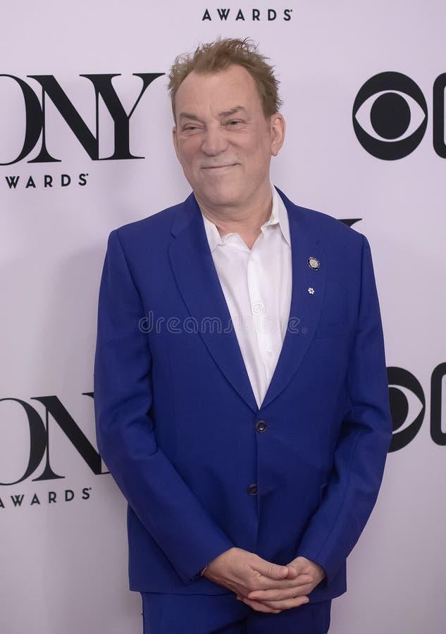 Des McAnuff på Tony Awards Meet 2019 kandidaterna trycker på Junket royaltyfria bilder