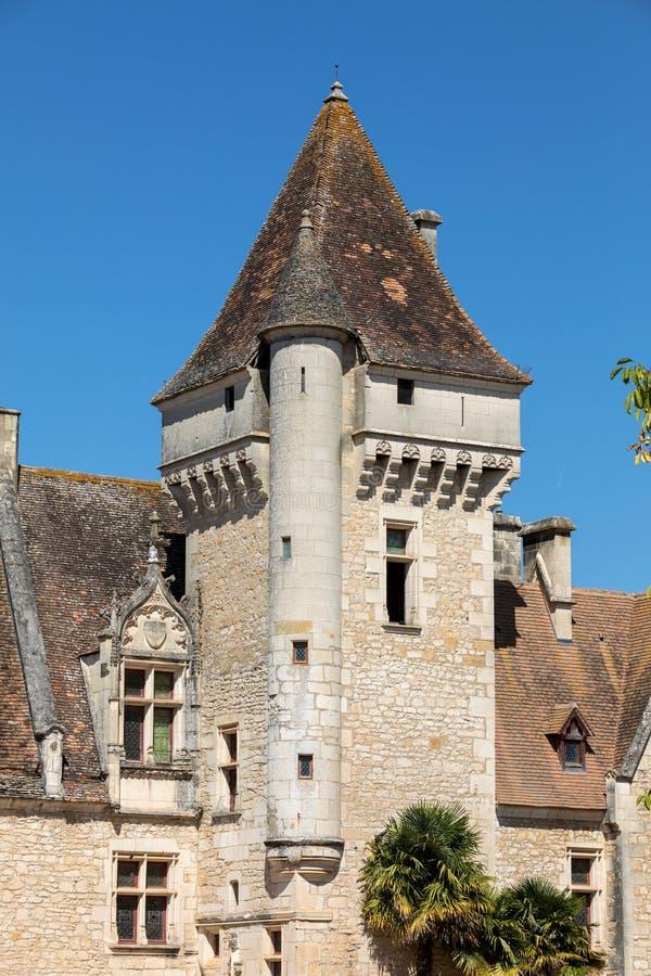 DES Milandes do castelo, um castelo no Dordogne fotos de stock royalty free