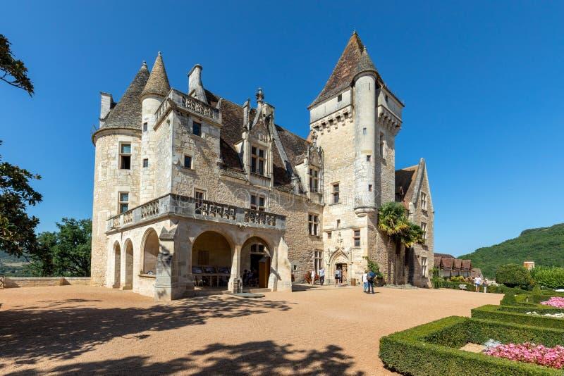 DES Milandes do castelo, um castelo no Dordogne, imagem de stock