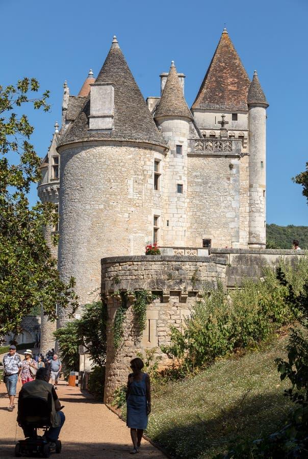 DES Milandes do castelo, um castelo no Dordogne, foto de stock royalty free