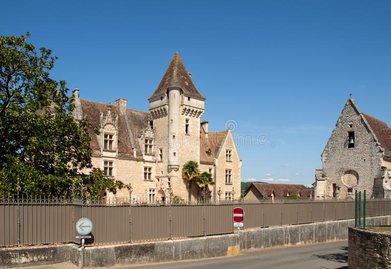 DES Milandes do castelo, um castelo no Dordogne, imagens de stock royalty free