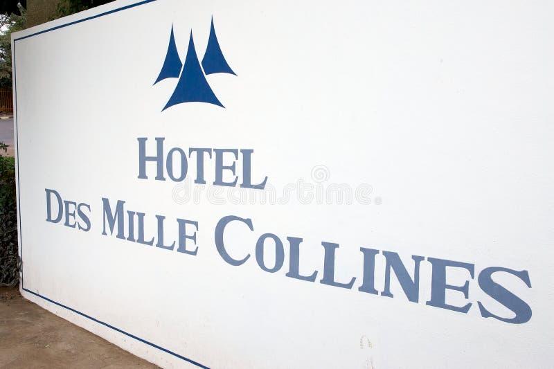 DES Mille Collines do hotel foto de stock