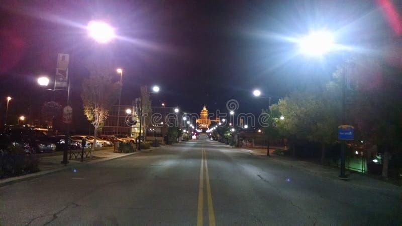 Des Moines στο κέντρο της πόλης στοκ εικόνες