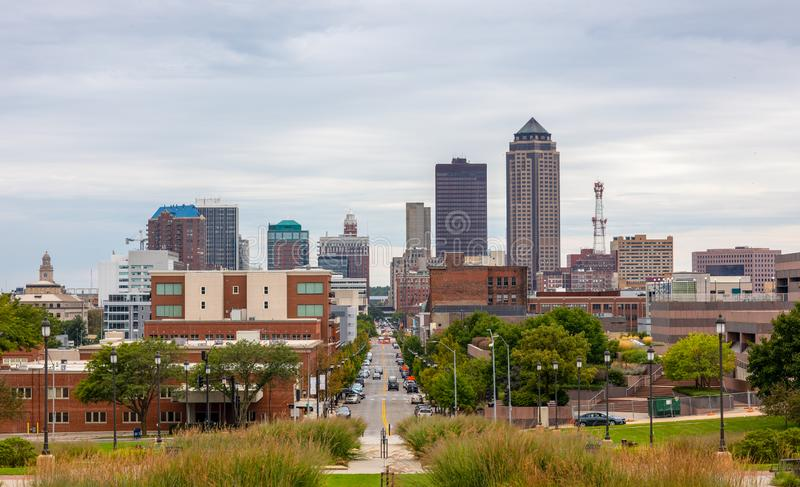 The City Of Des Moines. Des Moines, the capital of the state of Iowa, United States of America royalty free stock image