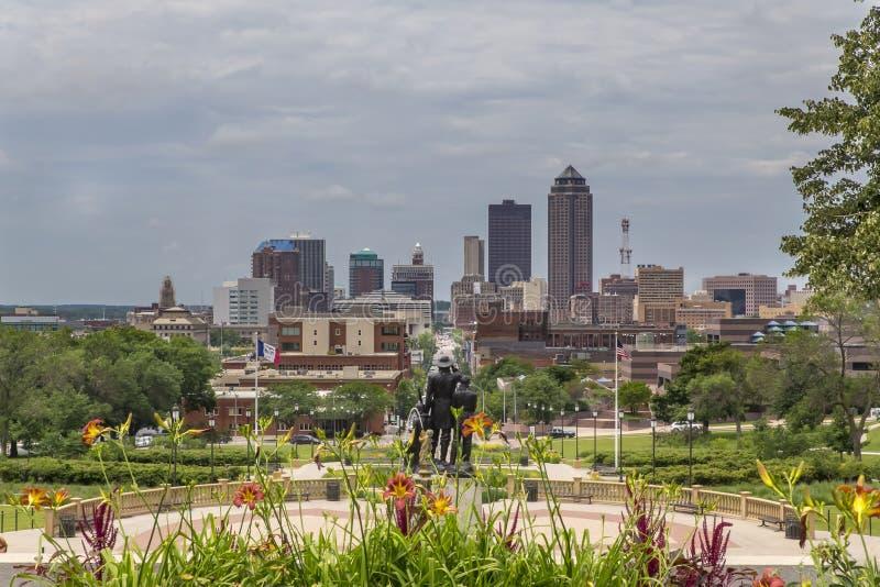 Des Moines Iowa royalty free stock image