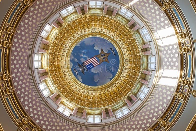 Des Moines, Iowa - costruzione del Campidoglio dello stato dell'interno immagini stock libere da diritti