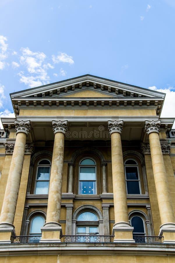 Des Moines Iowa het Capitool van de Staat stock foto's