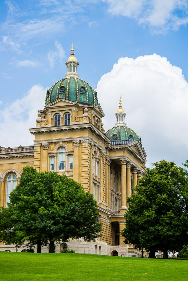 Des Moines Iowa het Capitool van de Staat royalty-vrije stock foto