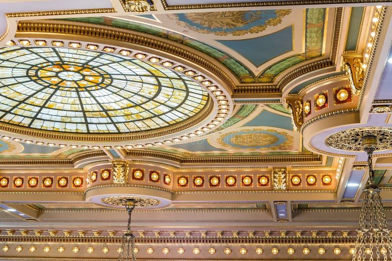 Des Moines Iowa statKapitolium royaltyfri bild