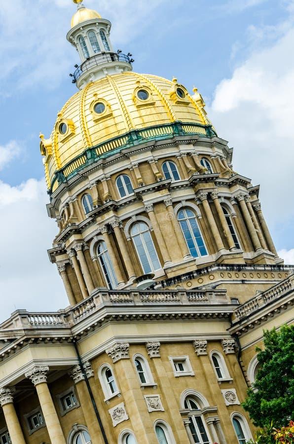 Des Moines Iowa statKapitolium royaltyfri fotografi
