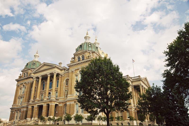 Des Moines Iowa - tillståndsCapitolbyggnad royaltyfria foton