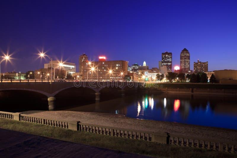 Des Moines Skyline stock fotografie
