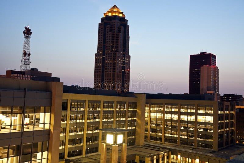 Des Moines vóór horizon royalty-vrije stock foto's