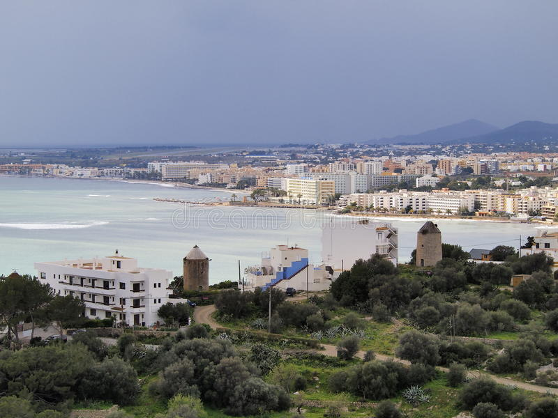 Des Molins, Ibiza för nekropolde Puig royaltyfria bilder