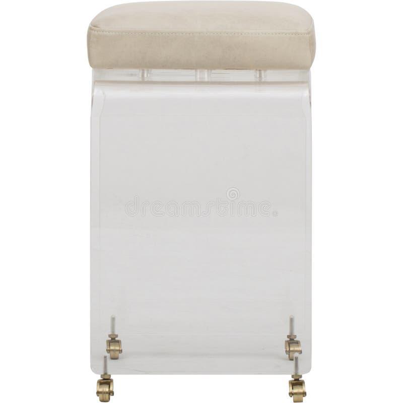 Des mondes acrylique fascinant loin et contre- tabouret en laiton, meubles Luxe Xavier Pauchard Tolix Style Stool de culte de tab photos libres de droits