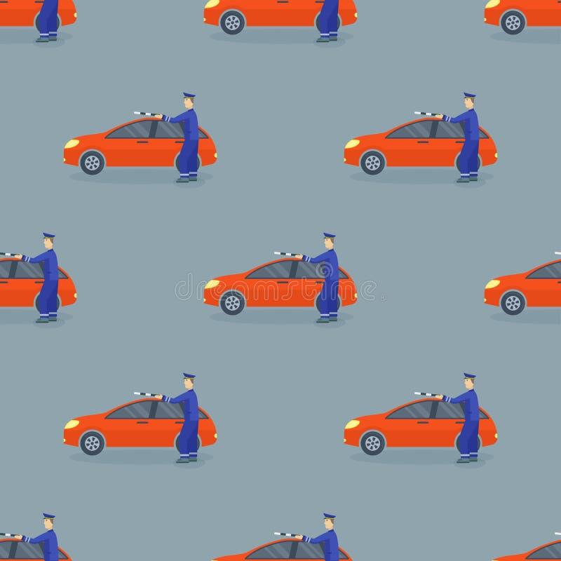 Des nahtlosen Geschäfts-Autoillustration Mustervektors der Plattformwagenfahrzeugtypdesignlimousine generische klassische vektor abbildung