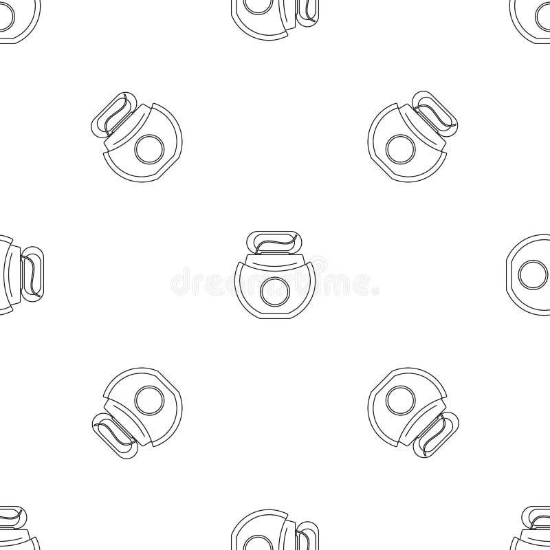 Des offenen nahtloser Vektor Kasten-Musters der Glasschlacke lizenzfreie abbildung