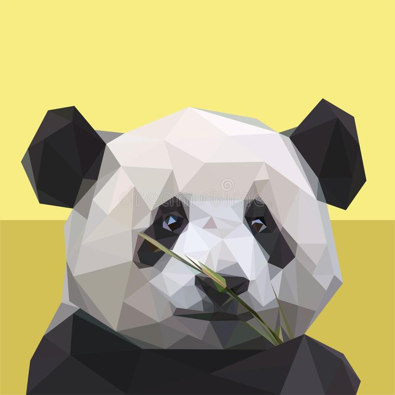 Des Pandas Art lowpoly lizenzfreies stockbild