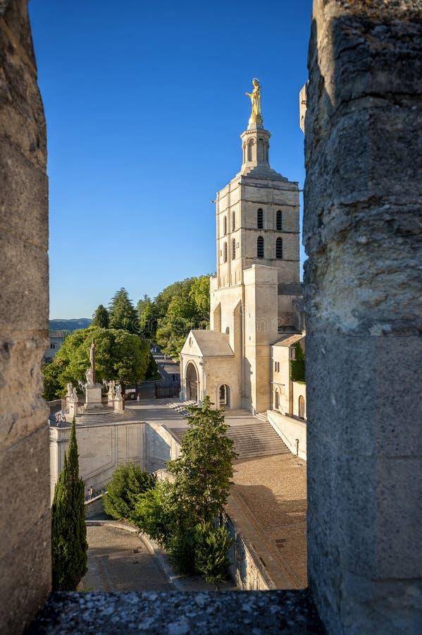 Des Papes Авиньона - Palais Папы Дворец в Авиньоне в красивом летнем дне, франке стоковое изображение