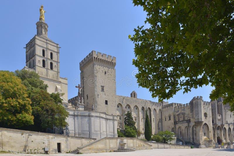 DES Papes de Palais à Avignon en France photographie stock