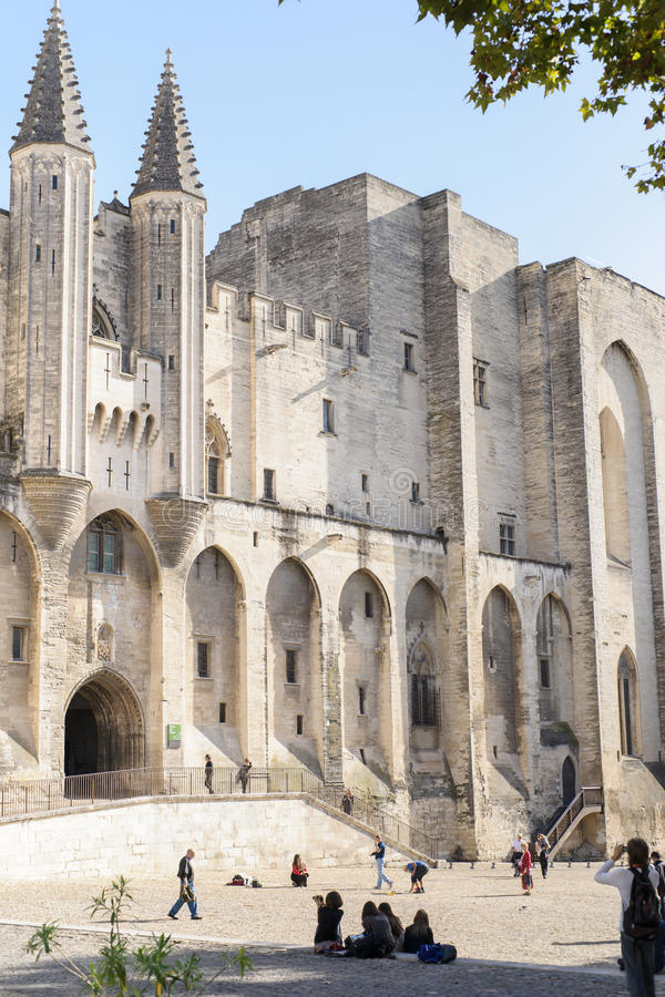 DES Papes de Palais, Avignon fotografia de stock royalty free