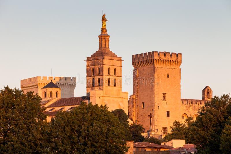 DES Papes de Palais em Avignon, Provence, França foto de stock