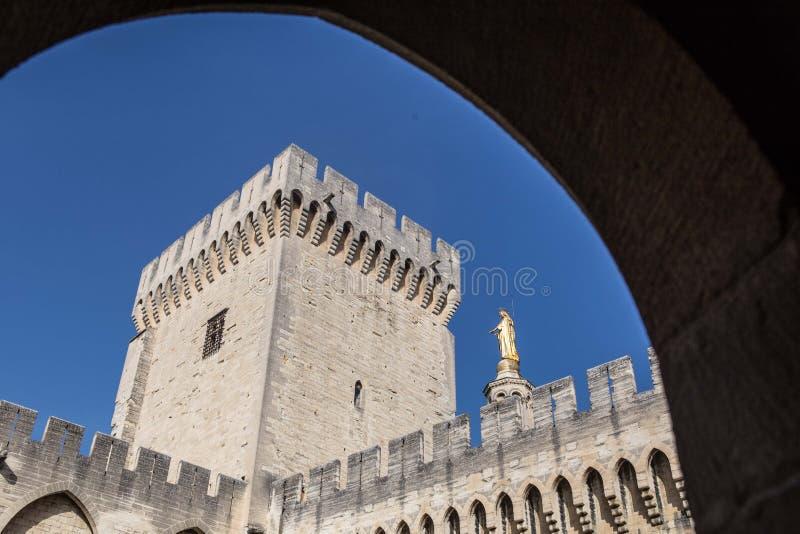DES Papes de Palais em Avignon foto de stock