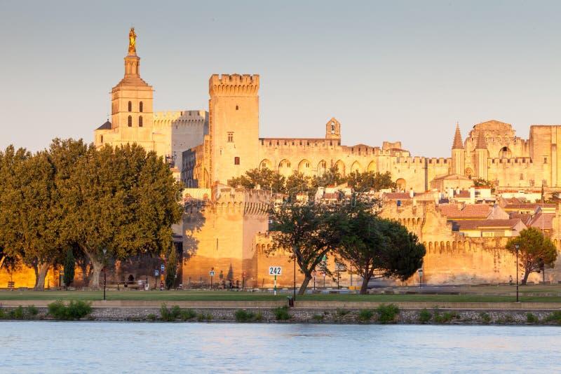 DES Papes de Palais en Aviñón, Provence, Francia fotografía de archivo